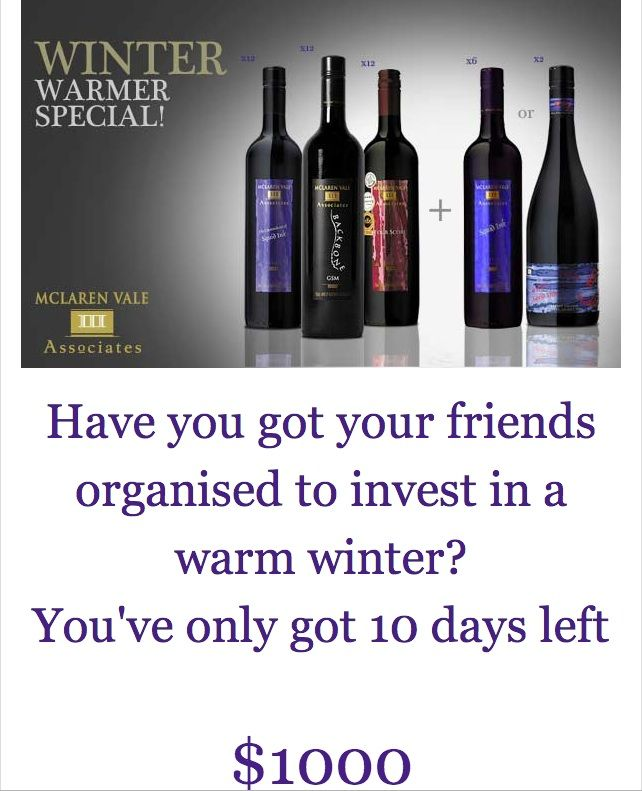 FOUR DAYS LEFT for this amazing, never to be repeated III Associates #redwine #winter #wine special.  Order via the website!
