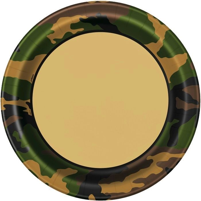 Army Party Plates | Army Camouflage Birthday Party | Plate Party Products