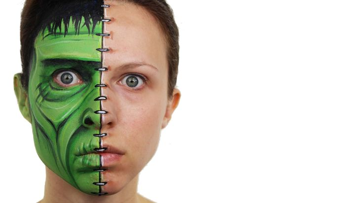 Frankenstein Face Painting Tutorial. Obviously if you'd like to make this a full face design then just copy the exact same thing on the other side. You could...