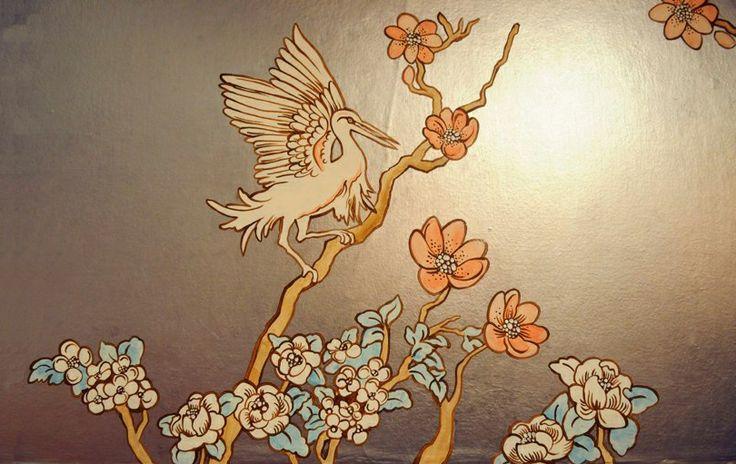 handpainted wall mural wallpaper