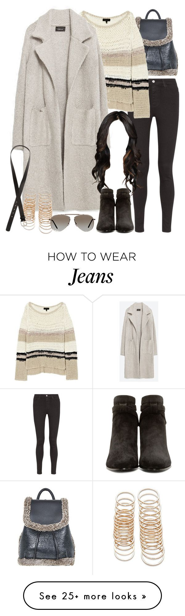 """""""Untitled #8245"""" by nikka-phillips on Polyvore featuring AG Adriano Goldschmied, rag & bone, Zara, Yves Saint Laurent, Forever 21, Tom Ford and H&M"""