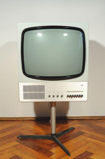 1960s Vintage Braun 80 Television Design by Dieter Rams 1964