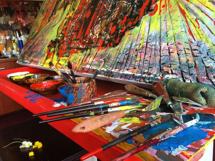 """ArtStudio detail...""  #artstudio #studio #artwork #canvas #fineart #paintings #draw #drawing #oilpainting #oilpaint #paint #painting #exhibition #resim #ressam #sanat #serdarabay #serdar_abay #artstudio #studio"