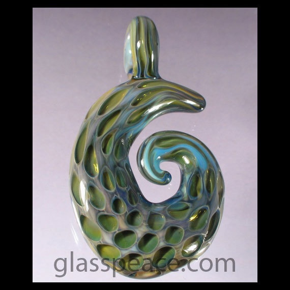 SALE  Hand Blown Glass Pendant  Lampwork Honeycomb by GlassPeace, $26.95