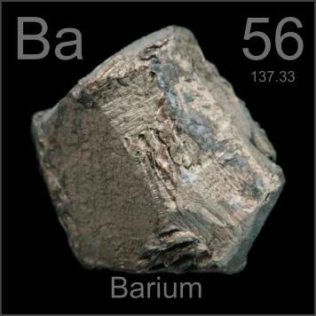 Barium Physics properties: Boiling point; melting point; density; molar volume; thermal conductivity; and electrical resistivity; bulk modulus; critical temperature; superconductivity temperature; hardness (mineralogical, Brinell, and Vickers); linear expansion coefficient; Poisson's ratio; reflectivity; refractive index; rigidity modulus; Young's modulus; velocity of sound Crystal structure Thermochemistry: enthalpies of atomization, fusion, and vaporization; thermodynamic properties