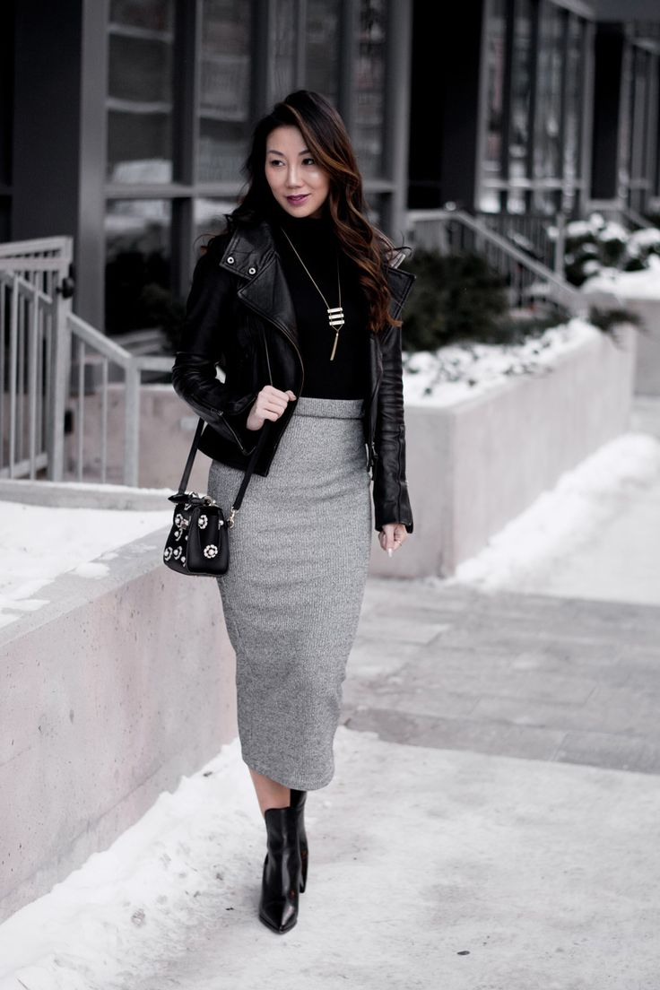 OOTD: Minimalist Style in Leather and Grey - Yes Missy | A Lifestyle Blog