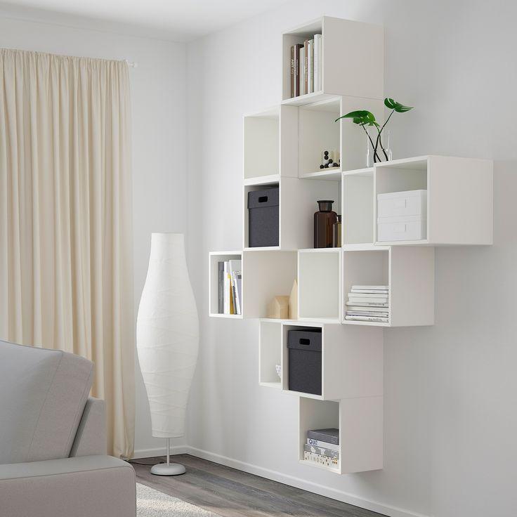 Dove li trovate vi starete domandando? Eket Wall Mounted Cabinet Combination White Ikea Arredamento Soggiorno Bianco Arredamento Salotto Ikea Arredamento Parete Salotto