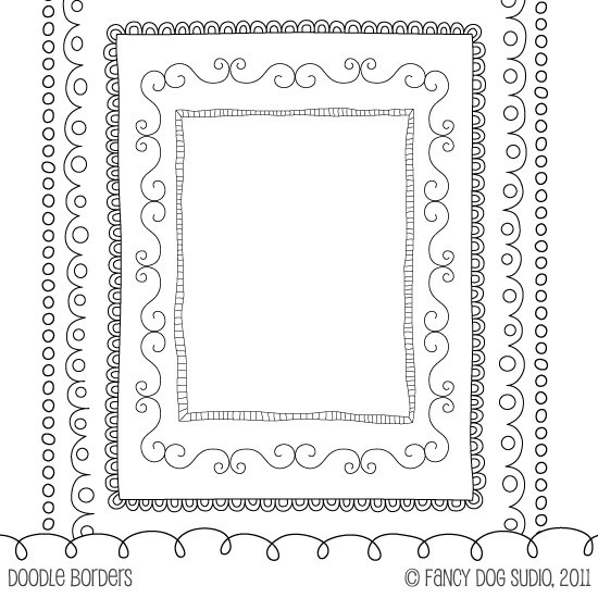 doodle black border frames 85x11 size doodled by fancydogstudio 400 usd via etsy