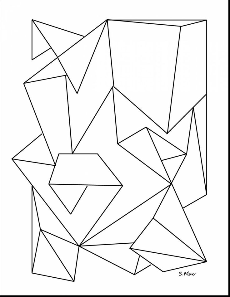 marvelous geometric abstract coloring pages with geometry coloring pages and geometry coloring pages printable - Abstract Coloring Pages Printable