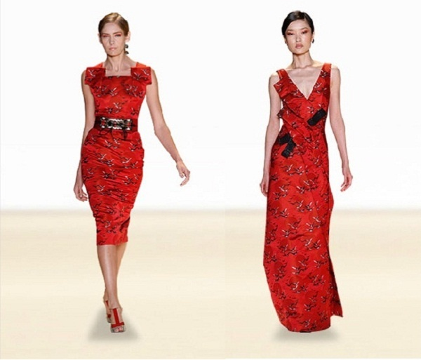For spring 2011 color, print, and floral applique from botanical collection in the 18th century. Spring 2011 Collection Carolina Herrera New York