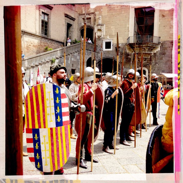 Medieval Aragonese Infantry  Seggio Periglioso Fanteria Aragonese Aragonesi di Napoli Rievocazione Aragonese