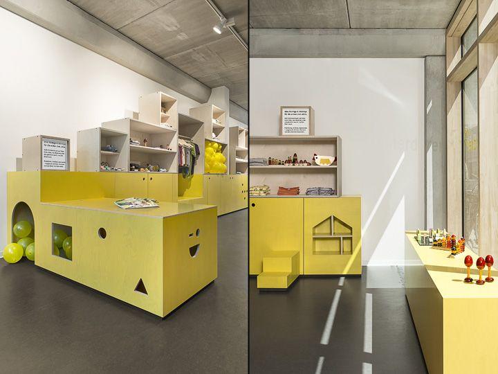 Оригинальный дизайн детского магазина Kleinerdrei в Гамбурге