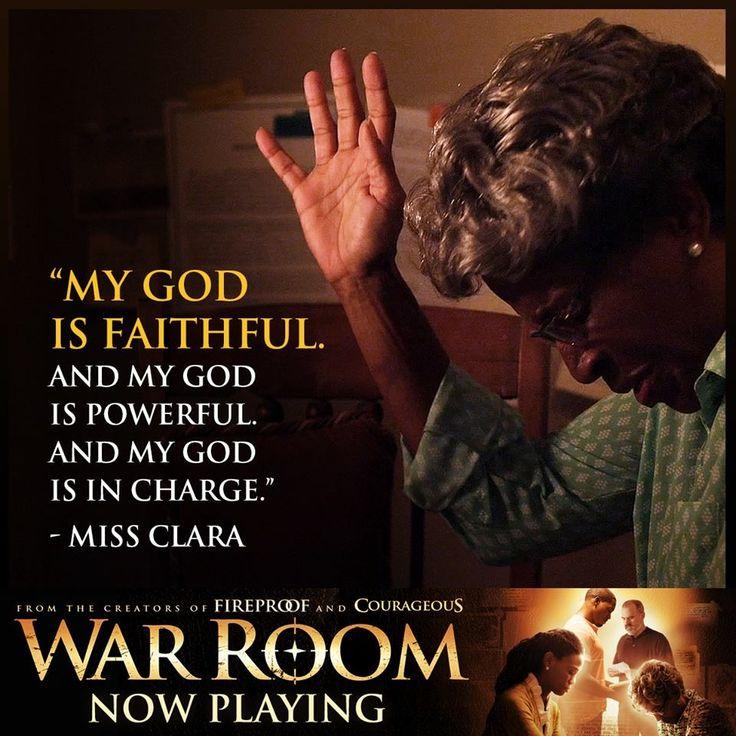 My God is faithful... war room