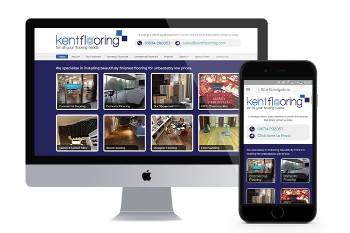 Responsive Web Design and ongoing SEO for Kent Flooring