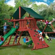 Gorilla Playsets Sun Climber I Swing Set w/ Sunbrella® Canvas Forest Green 01-0024
