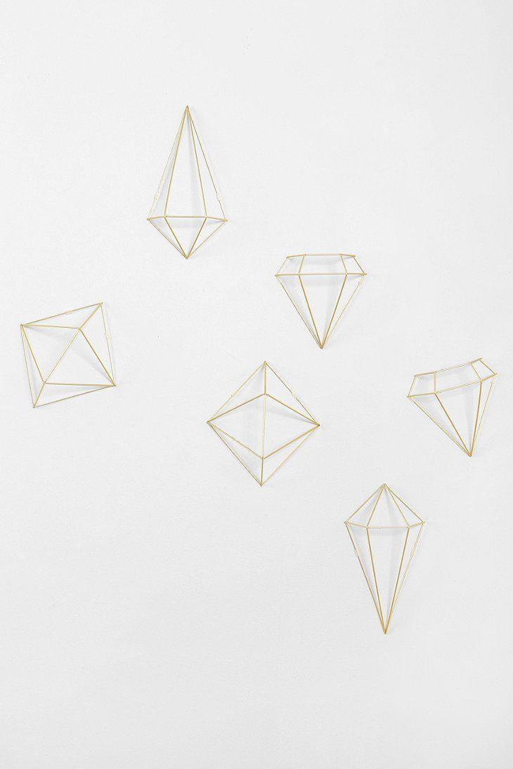Prisma Wall Decor Set Urban Outfitters Geometric Shapes