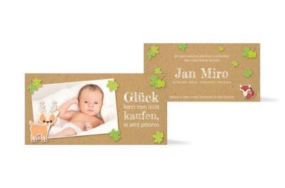 Geburtskarte Jan