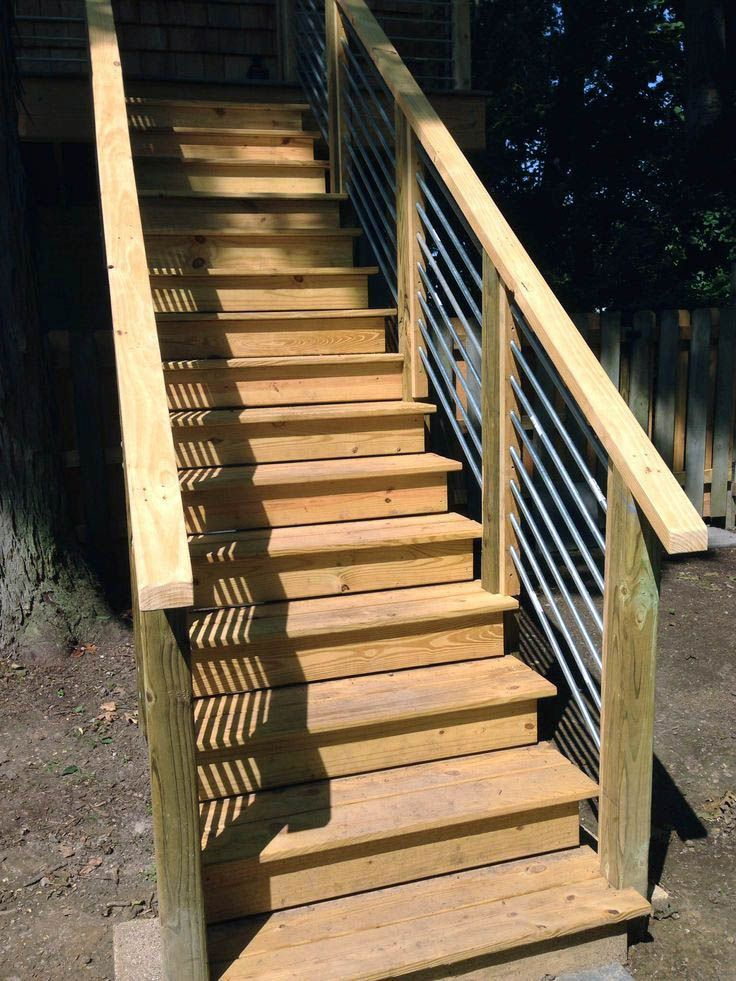 Here Are Graspable Deck Stair Railing For Your Cozy Home Deck | Graspable Handrail For Deck Stairs | Simple | Made 2X4 | 2 Foot | Code Compliant | Tall