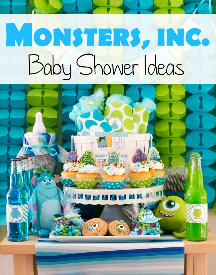 Monsters inc baby shower ideas it 39 s a for Baby boy mobile ideas