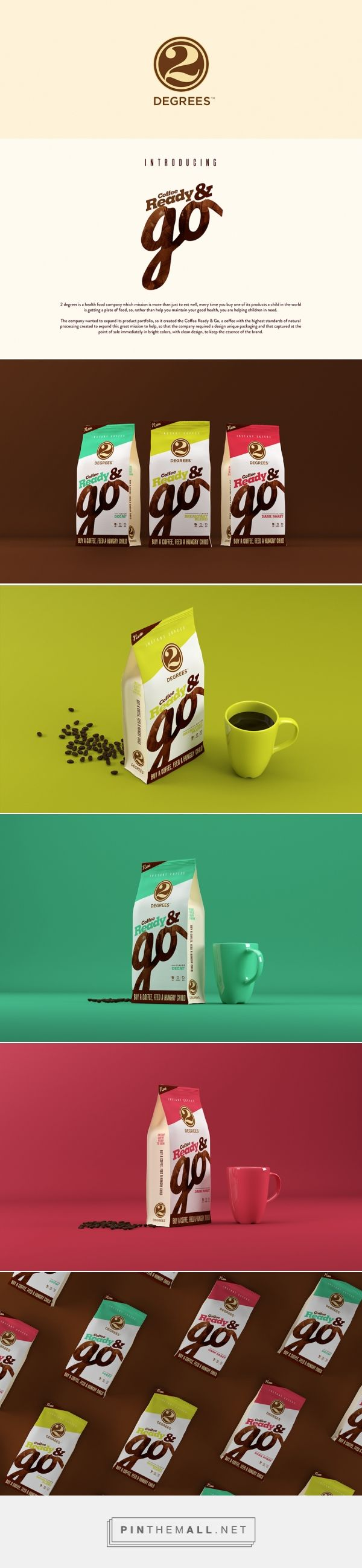 2 Degrees Coffee Ready & Go packaging designed by Leandro Palencia (Colombia) - http://www.packagingoftheworld.com/2016/03/2-degrees-coffee-ready-go.html