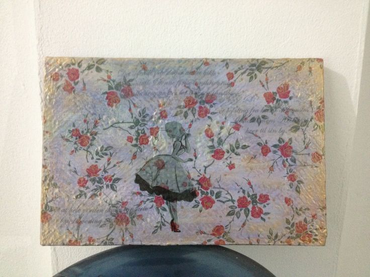 Decoupage on recycle frame