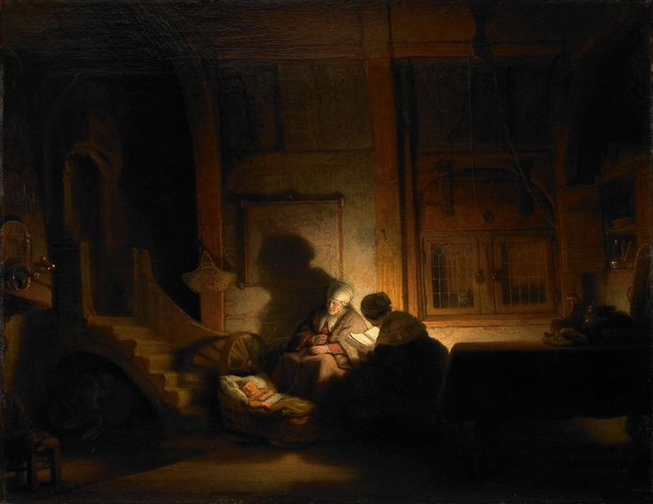 Rembrandt - The Holy Family at Night  #rembrandt #paintings #art