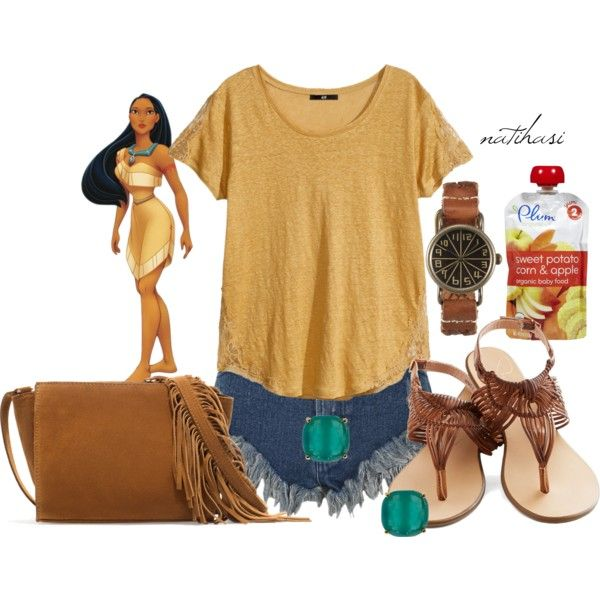 Disney Theme Park Summer Outfit: Pocahontas by natihasi on Polyvore featuring Mode, H&M, Zara and Kate Spade