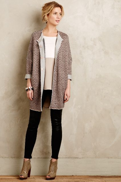 Tadi Geoprint Cardigan - anthropologie.com
