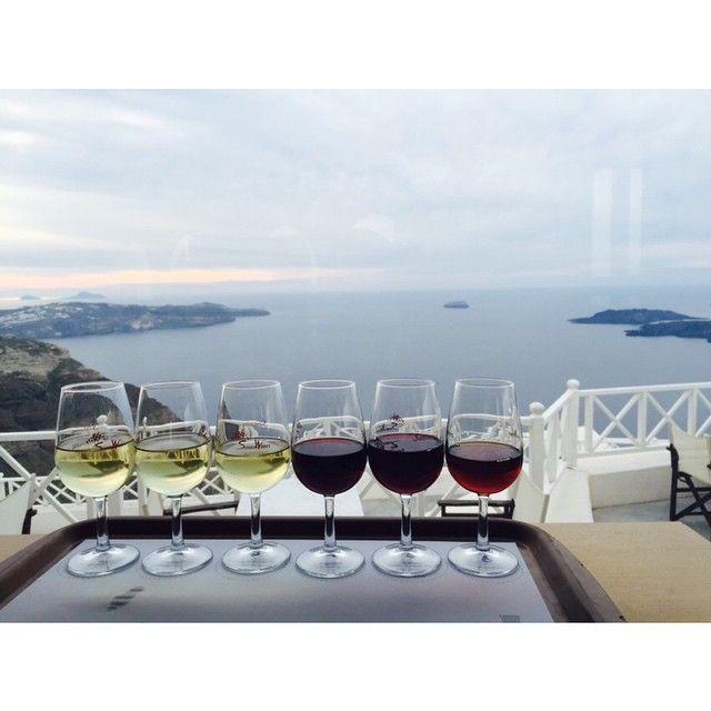 #WineTasting with the amazing #View of #Santorini!  Photo credits: @raaaachelle