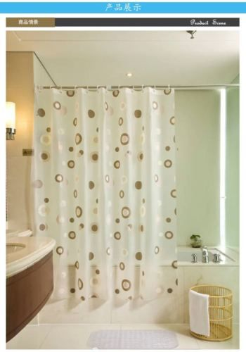 PEVA Boutique Shower Curtains Waterproof Mildew Metal Grommets Bath Curtain Send Hooks 2016 New