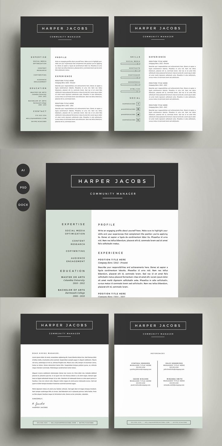 94 best Resume / CV Design Templates images on Pinterest