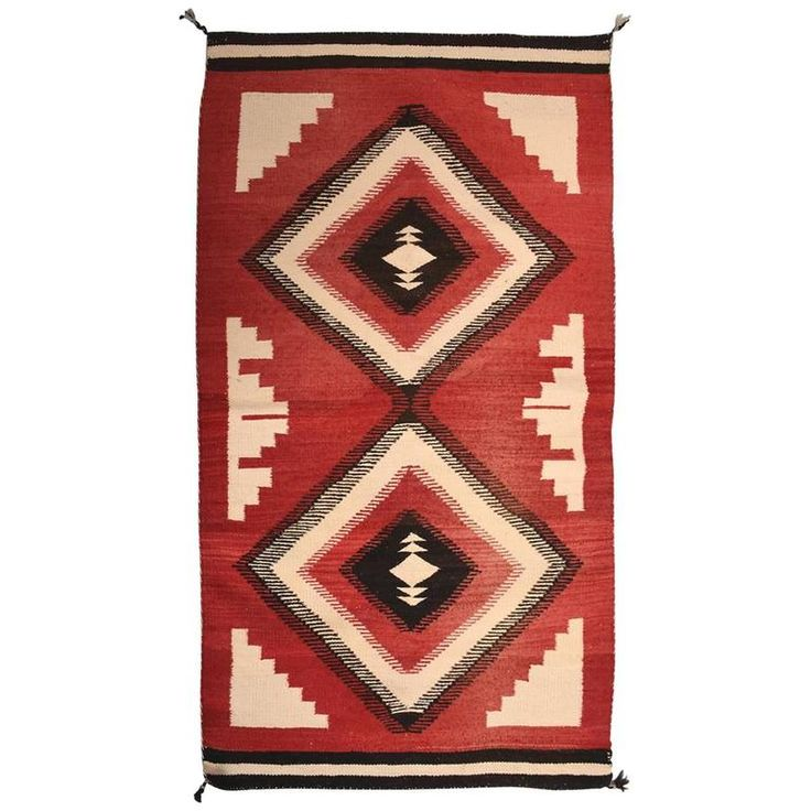 Antique Navajo American Indian Rug | From a unique collection of antique and modern indian rugs at https://www.1stdibs.com/furniture/rugs-carpets/indian-rugs/
