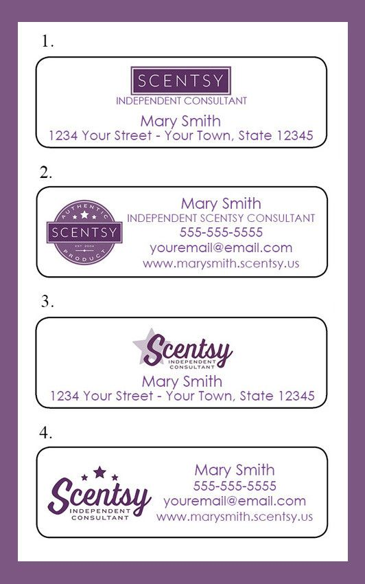 SCENTSY Consultant Catalog Labels or Address Labels, 30 Personalized Labels, Home Parties