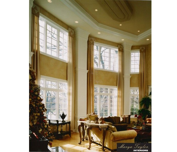 18 best two story great room images on pinterest for 2 story window treatments