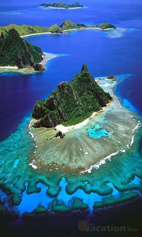 The Mamanuca Islands in Fiji.