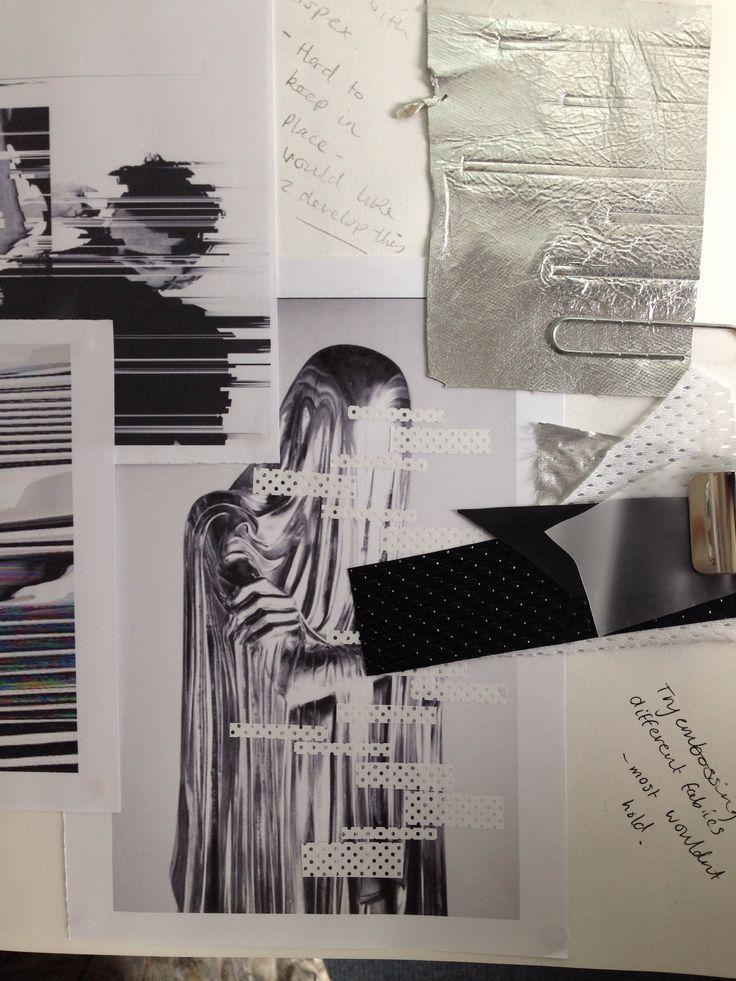 Fashion Sketchbook - fashion design research; collection development; fashion student portfolio // Kathleen Dawson