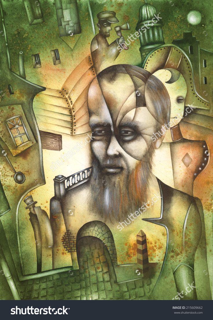 Fyodor Dostoyevsky by Eugene Ivanov #fyodor #dostoyevsky #dostoyevsky #eugeneivanov #author #literature #russia #russian #writer #caricature #cartoon #literary_arts, #russian_writer #@eugene_1_ivanov #brothers_karamazov #crime_and_punishment #idiot #poor_folk #white_nights