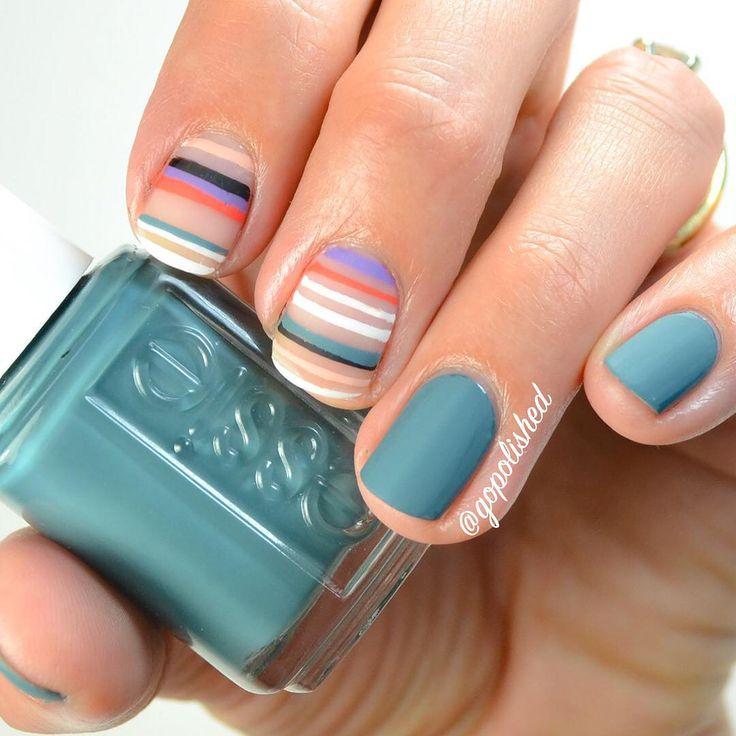 Stripe Nail Art: 17 Best Ideas About Striped Nail Art On Pinterest