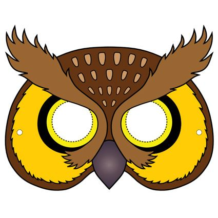 Owl Mask Printable Masks Owl mask, Halloween masks, Printable
