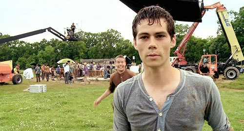 Pin for Later: 18 Times You Wanted to Run Away With the A-Maze-ing Dylan O'Brien When He's Willing to Give a Surprise Piggyback Ride Will Poulter could have crippled him.