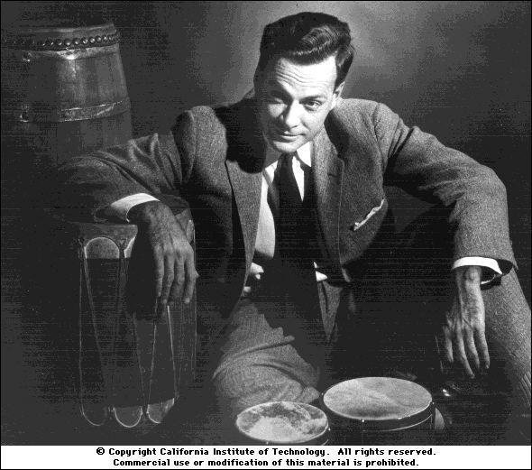 Richard Feynman & bongos & a suit ?! -