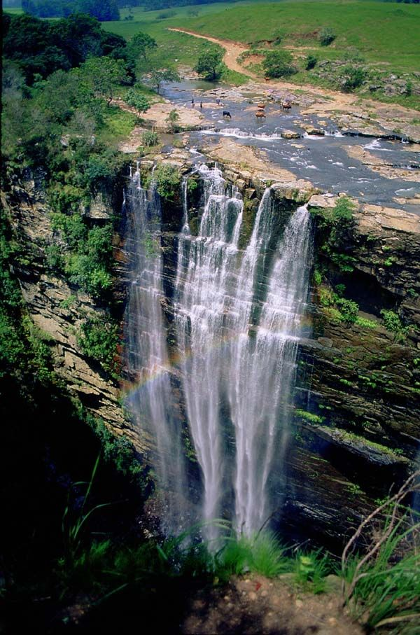 Magwa falls, near Lusikisiki in the Transkei, Eatern Cape province, South Africa Photo