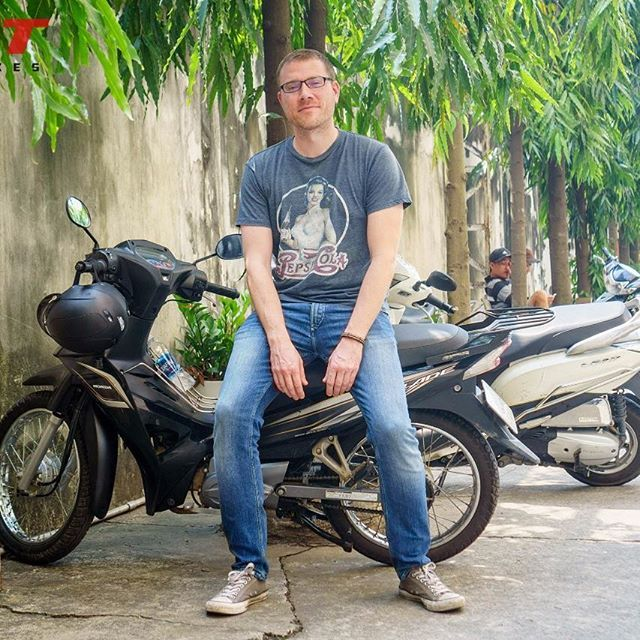Frantisek from CZ and the honda blade for city travel #rentabikeinhochiminh #tigitmotorbikes #hondablades #reliablebike