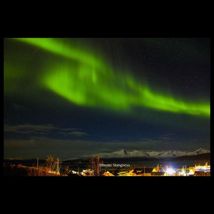 Aurora Borealis over Sommarøy, N69°, Tromsø, Northern Norway.