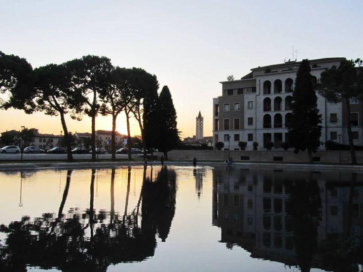539  tramonto veronese, vasca dell'Arsenale, Verona, Veneto. foto di Stefania Lacquaniti