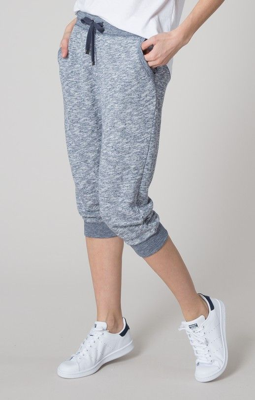 Keep cool in these lightweight, cropped joggers. Crafted in a marled French terry, these sweatpants feature side pockets and a drawstring, elasticized waist. Slate Blue Pair with our Slate Blue Pocket