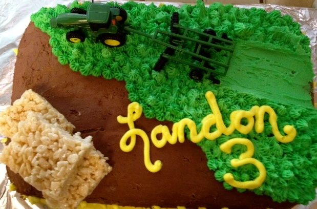Landon's John Deere Birthday Cake: Deer Birthday, Birthday Parties, Baxter Birthday, Tractors Birthday, Birthday Ideas, Birthday Cakes