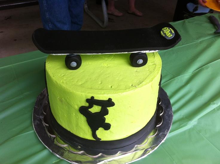 Skateboard cake from my nephew's birthday.