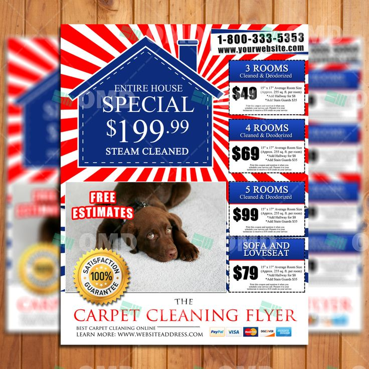 11 Best Carpet Cleaning Flyers Images On Pinterest