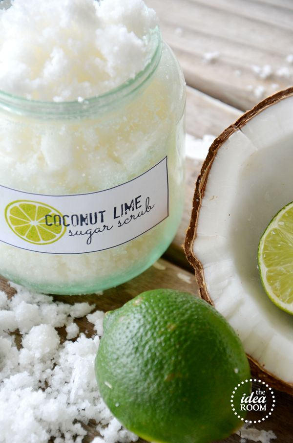 COCONUT LIME SUGAR SCRUB -1/4 cup coconut oil (melted) -1 cup white sugar -1 TBSP shredded coconut -6-8 drops of Lime Essential Oil 1)Melt Coconut oil in microwave. 2)Mix in with the sugar, until fully incorporated. 3)Add the coconut and the Lime Oil. 4)Mix together. Makes one cup of scrub.